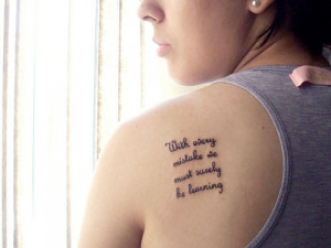 Nice Quote On Upper Back