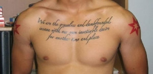 quotes chest piece tattoos quotes chest tattoos for men quotes