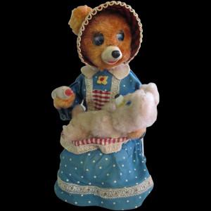Yonezow Mechanical Toy - Mama Bear & Hungry Baby Bear