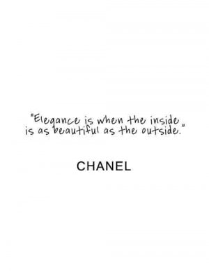 Fashion quotes sayings elegance meaningful chanel