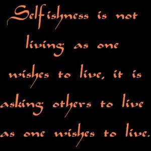 Oscar Wilde - Selfishness photo Selfishness.jpg