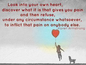 ted quote by Karen Armstrong... look into your heart