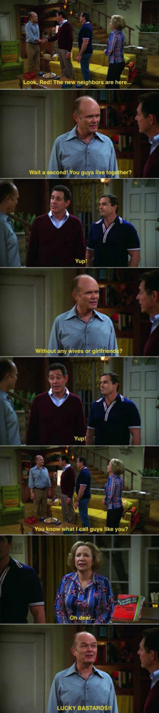 Red Forman meets a gay couple