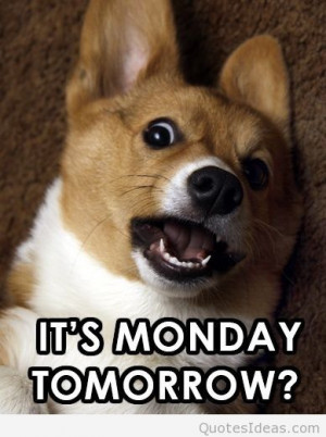 Tomorrow is monday again quotes, sayings, pictures
