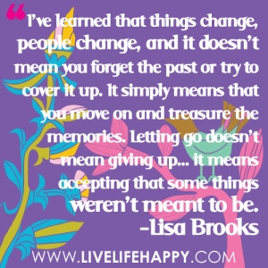 Accepting Things And Moving On Quotes