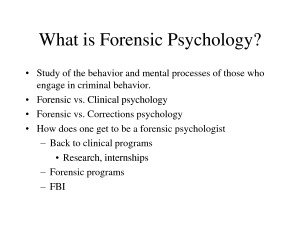 Forensic Psychology what is princeton known for