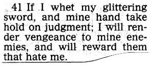 bible quote vengeance