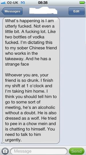 15 Hilarious Funny Drunk Texts