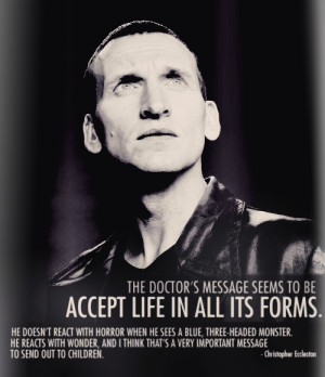 Christopher Eccleston on Doctor Who motivational inspirational love ...