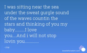 was sitting near the sea under the sweat gurgle sound of the waves ...