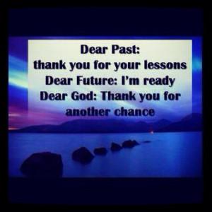 Dear past, future, and present