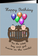 Happy Birthday Boy & Girl Twins - General card - Product #866196