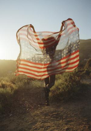american flag, flag, model, pretty, style