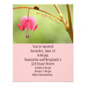 Go With the Flow Ladybug and Flower Invite