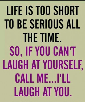 Laughter is healing. ..