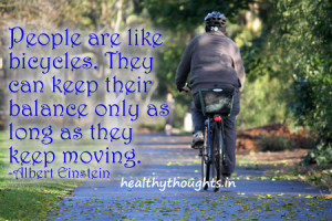 People Are Like Bicycles…