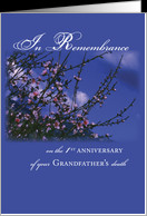 Remembrance 1st Anniversary Death of Grandfather, Religious card ...