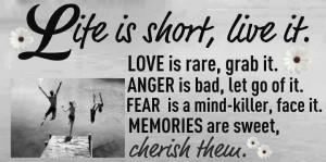 Cherish memories