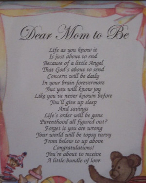 baby shower unborn baby poems for baby shower a letter from an unborn ...
