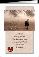 Pet Sympathy Loss of a Horse - Sepia Tones card - Product #441354