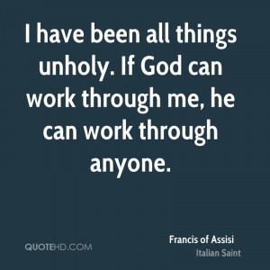 Francis of Assisi Work Quotes