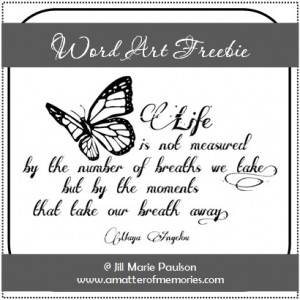 WORD ART: Life is Not Measured Quote Freebie