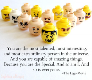 Lego Movie Quotes Believe ~ Sewing Saturday's at Simple Simon and ...