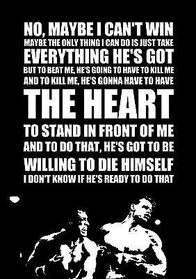 Rocky Balboa Inspired Motivational Inspirational A2 Poster