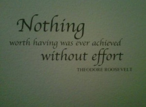 WORTH HAVING WAS EVER ACHIEVED WITHOUT EFFORT ...quotes and sayings ...