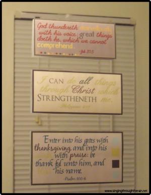 Deployment Idea 2# – Scripture Verses *Free Printables!*