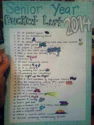 Senior Year Bucket List
