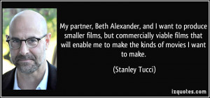 , and I want to produce smaller films, but commercially viable ...
