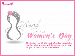 Happy Women's Day Wishes and Greetings Quote Picture 8 March Photo