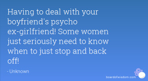 Psycho Ex Girlfriend Quotes
