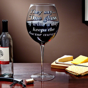 Doctor Away! XXL Giant Wine Glass 0 Rating (based on 0 reviews)