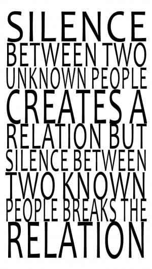 Silence Quotes And Sayings Sayings and quotes - silence