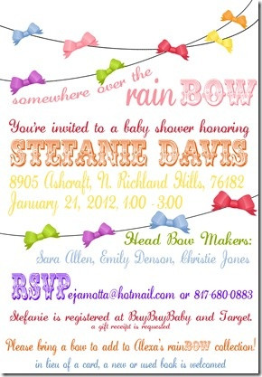 Adorable baby shower theme: rainBOW! #rainbow #shower #baby
