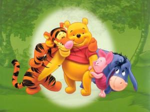 ... with Disney characters Tigger, Winnie the Pooh, Piglet and Eeyore