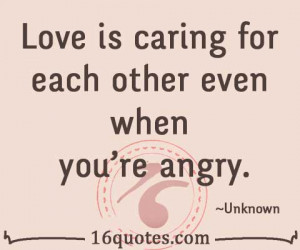 caring for each other even when you re angry unknown translate quote ...