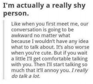 actually a really shy person