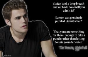 Damon & Bonnie The Return: Nightfall ~ Stefan Salvatore knows.