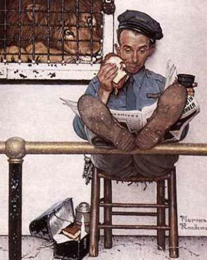 Norman Rockwell Feeding Time