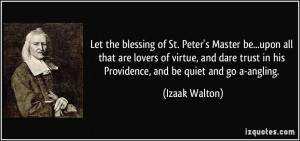 Let the blessing of St. Peter's Master be...upon all that are lovers ...