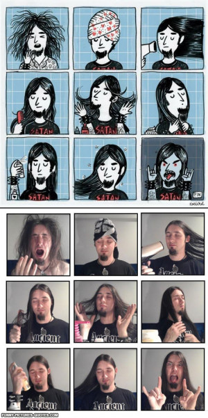 Metal Wake Up, Cartoon Vs Reality | Funny Pictures and Quotes