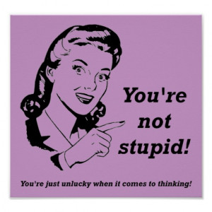 zazzle.comUnlucky Thinker Funny Poster Sign from Zazzle