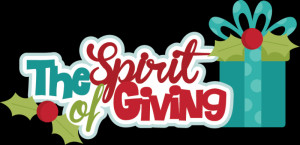 The Spirit Of Giving SVG cutting files christmas svg scrapbook title ...