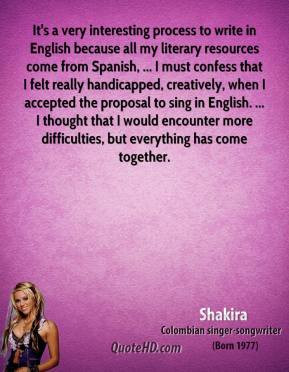 Shakira Quotes Colombian Pop Star Picture