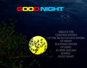 Good Night Wishes For Facebook HD Wallpaper