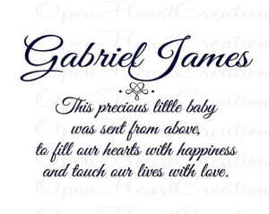 Custom Baby Nursery Vinyl Decal - Baby Poem Wall Decal Lettering Quote ...