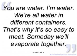 you are water yoko ono